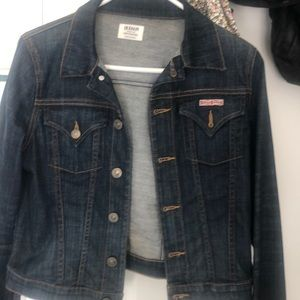 Hudson for Bloomingdales dark jean jacket